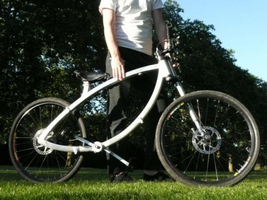 The Contortionist folding bike with its unique styling and chainless drive