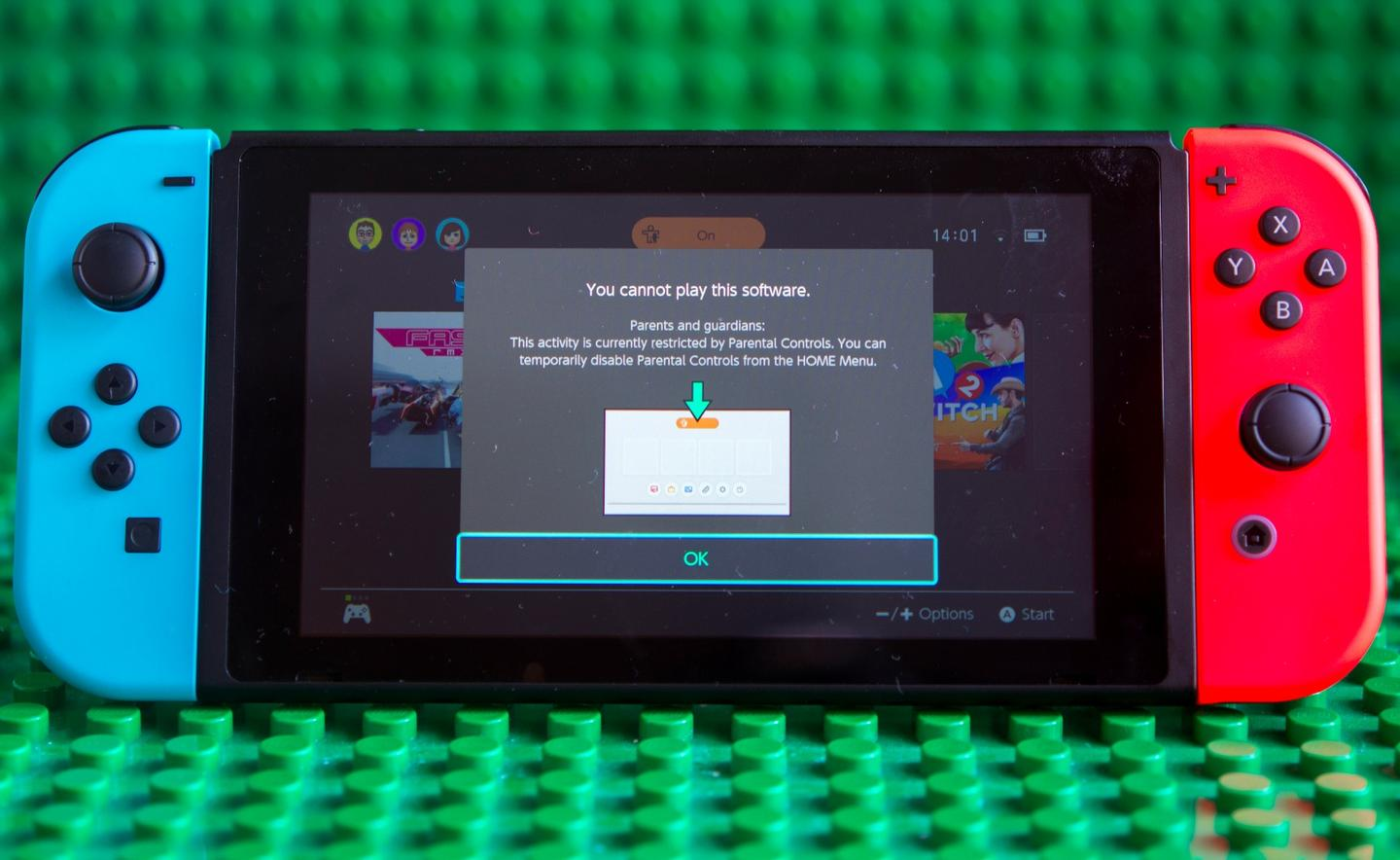 With parental controls activated on the Nintendo Switch certain activities can be blocked