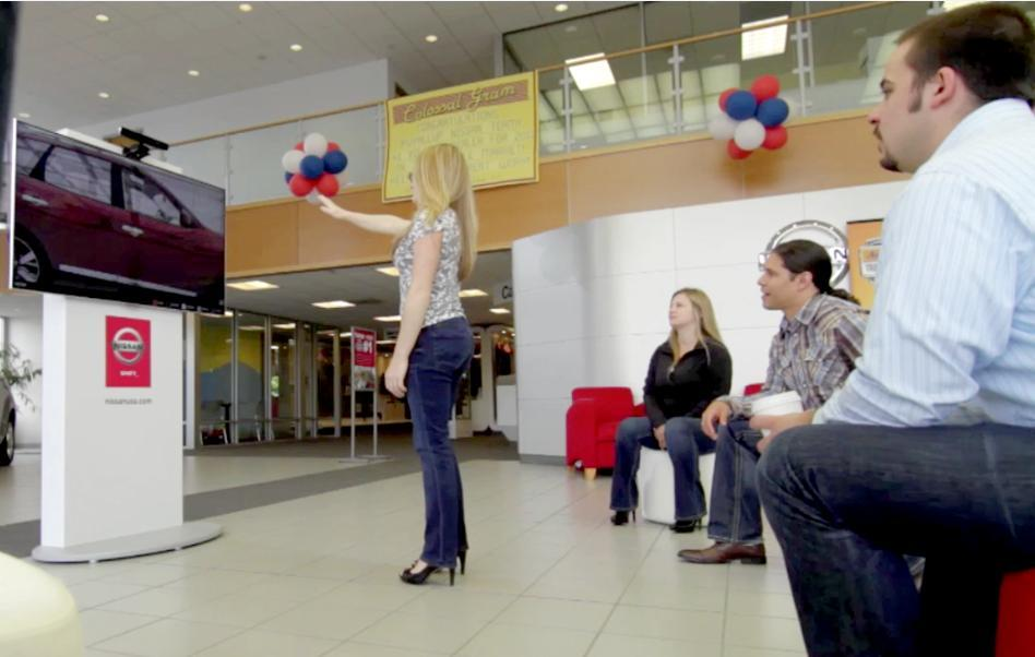 The Kinect Experience allows customers to check out models that aren't in production yet