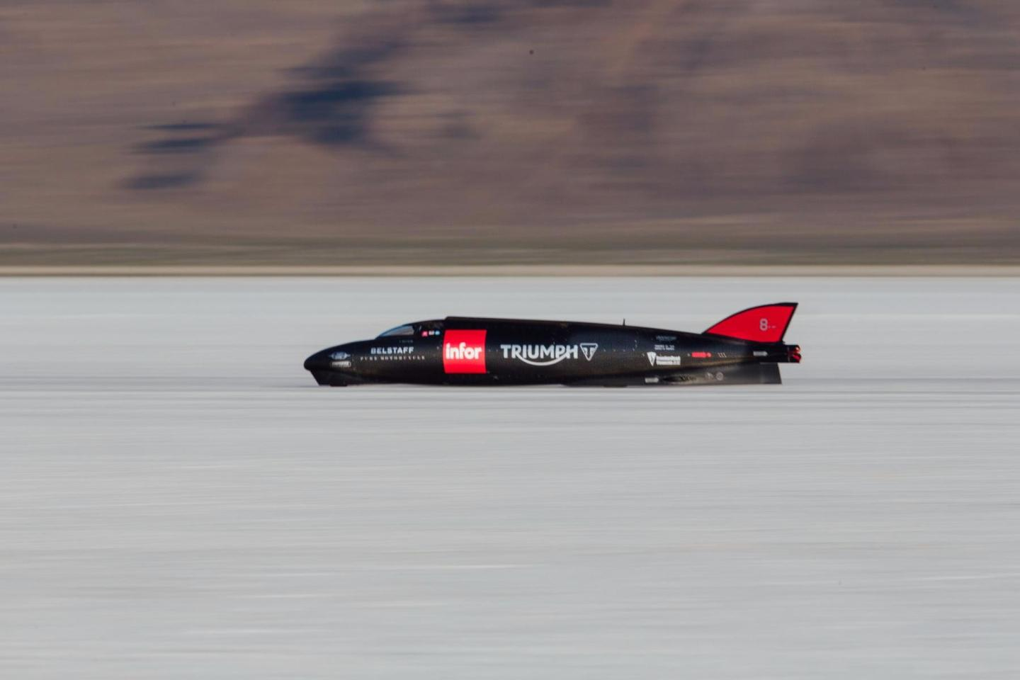 The successful attempt at the Triumph speed record was specifically planned