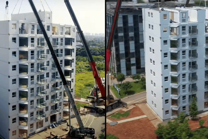 The Broad Group says that its prefabricated building system can be used to make residential high-rises, dormitories, hotels, hospitals, and more