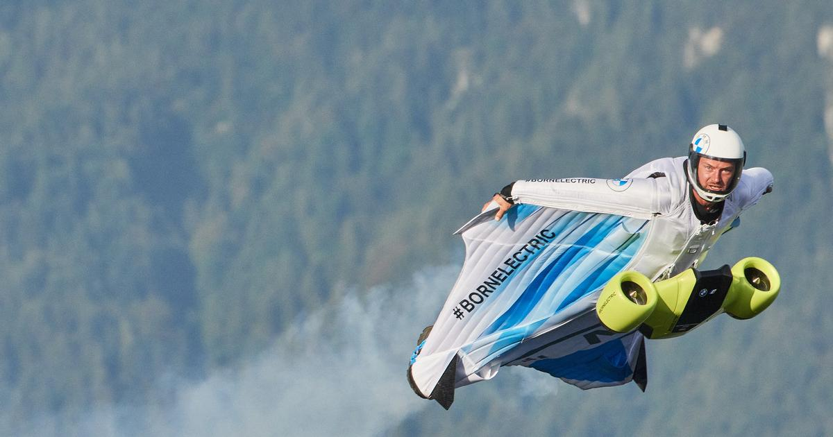 Dawn of a new extreme sport: The world's first electric wingsuit