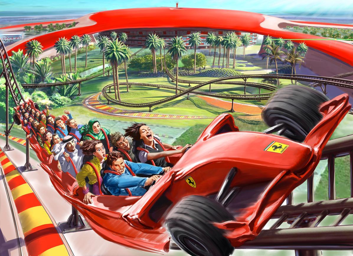 مركز متصل مؤرخ Ferrari Theme Park Roller Coaster Outofstepwineco Com