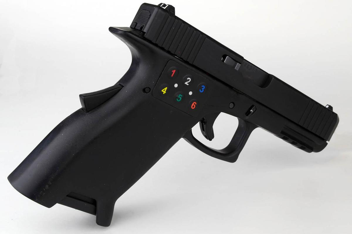 The 3D-printed functional prototype of the Smart 2™ 9mm pistol