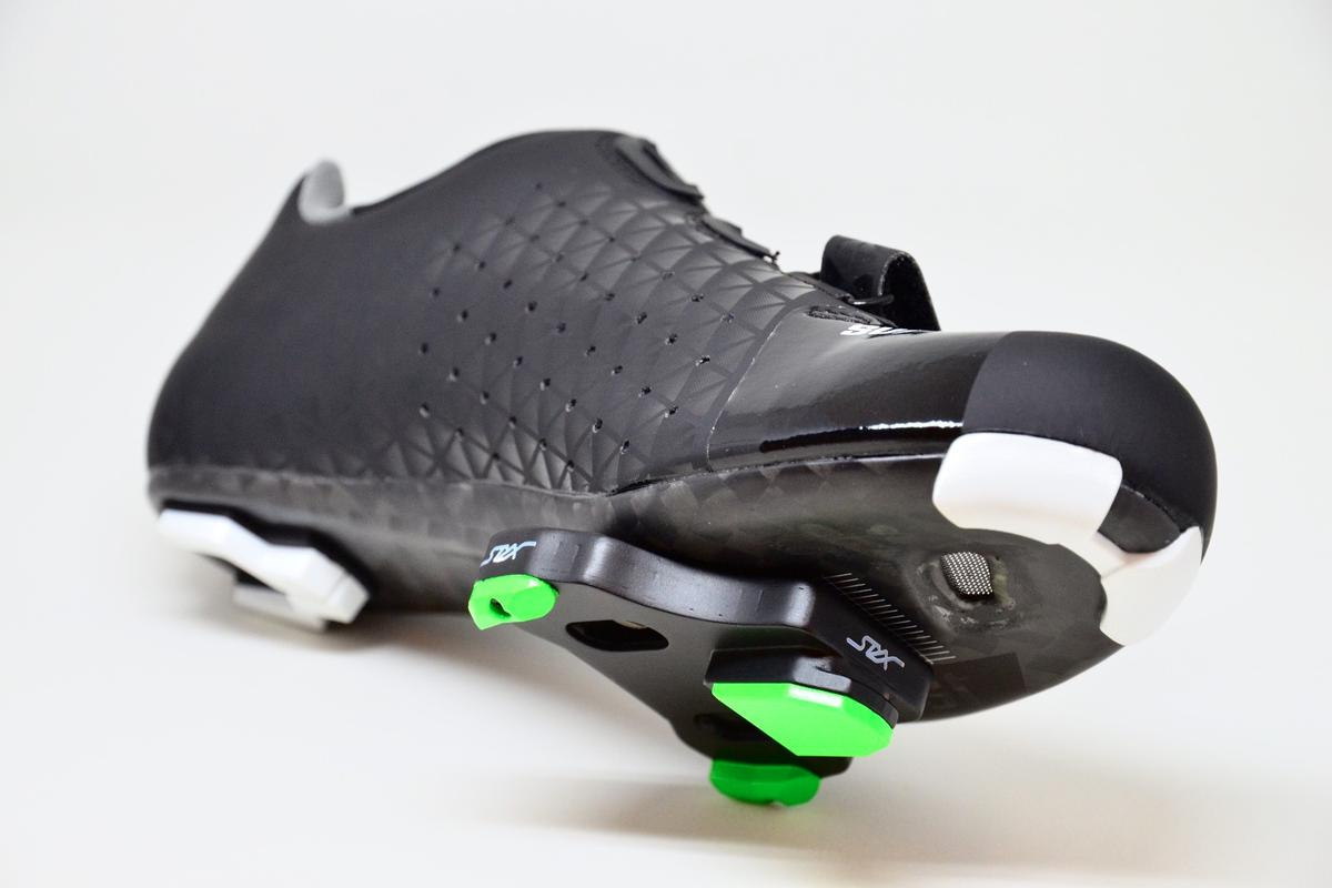 The STYX Powermeter is incorporated into the cleat