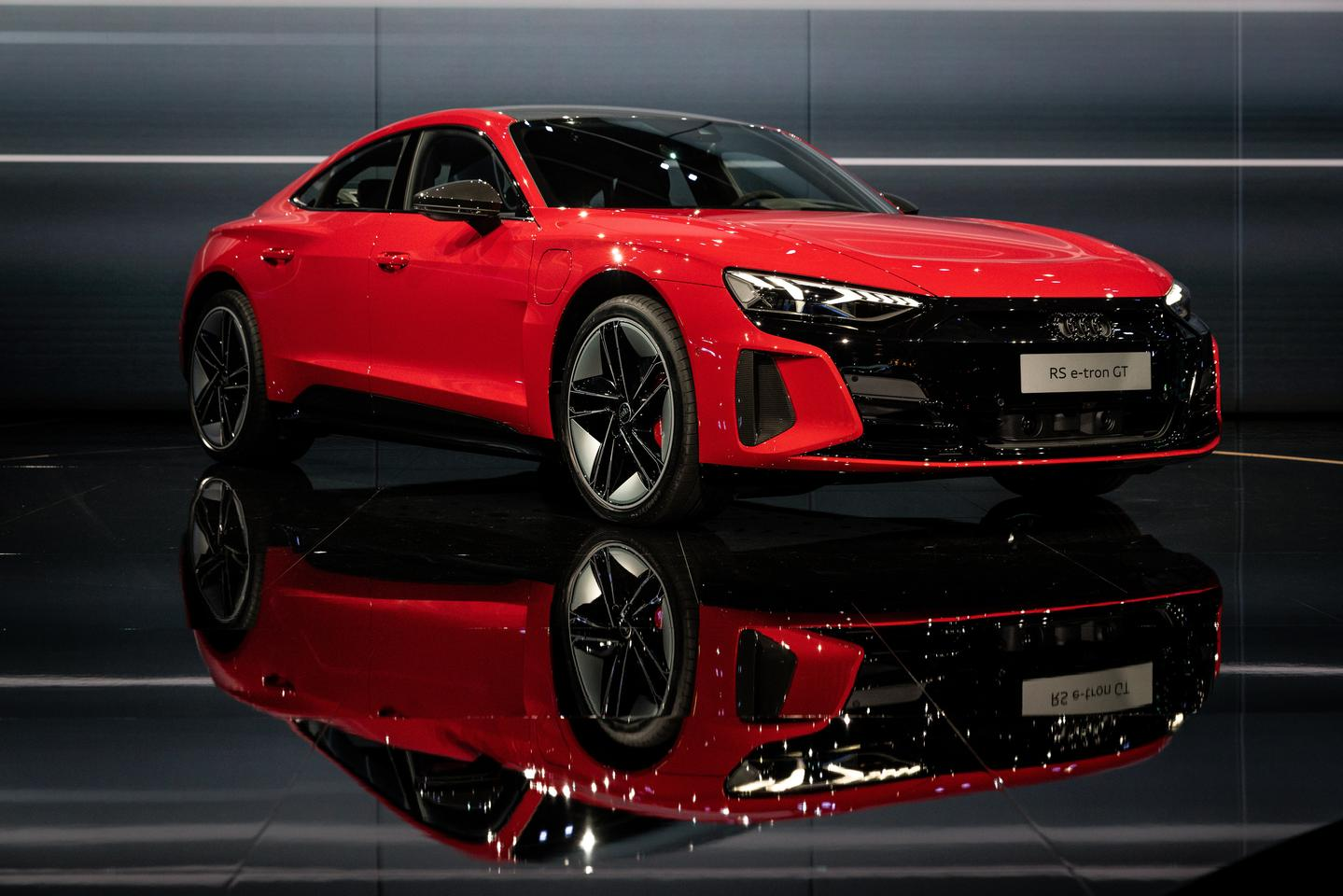 The Audi RS etron GT makes its world premiere at the Celebration of Progress digital event