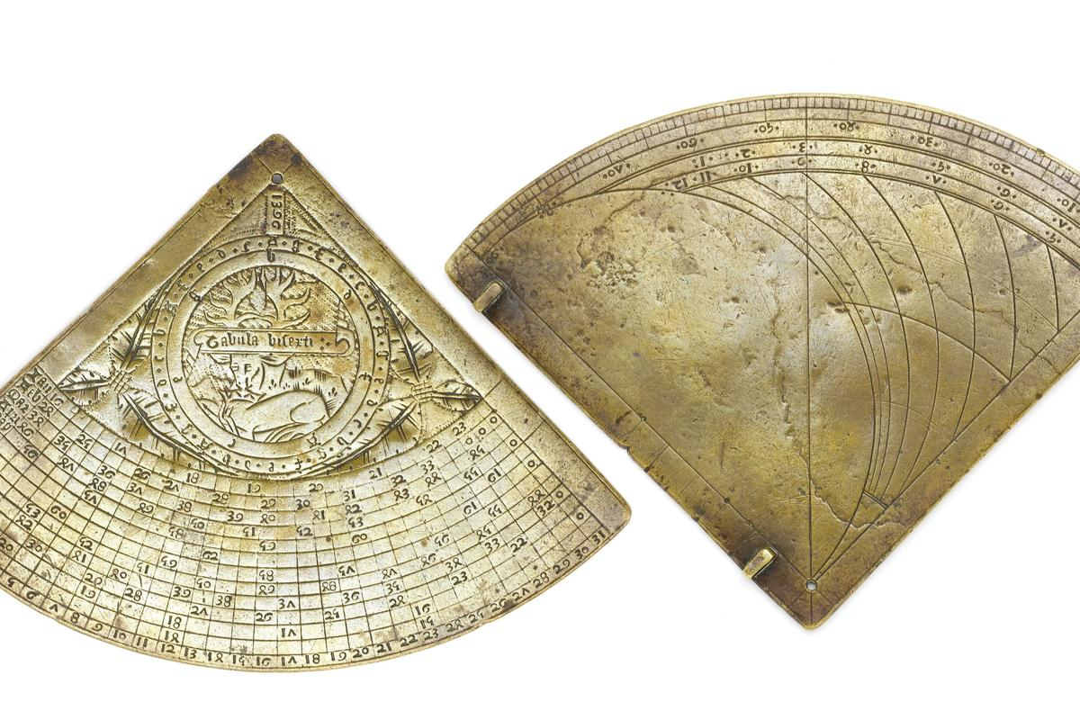 Both sides of the 1396 Richard II horary quadrant