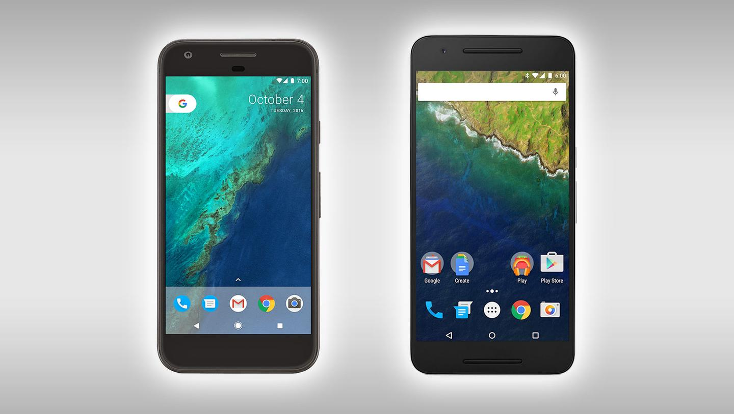 Comparing the new Google-made Pixel XL with its closest relative, the Nexus 6P