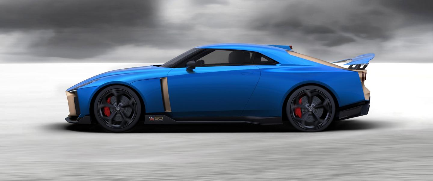 There has been no change to the exterior of the Nissan GT-R50, sans some color options, from its Goodwood debut