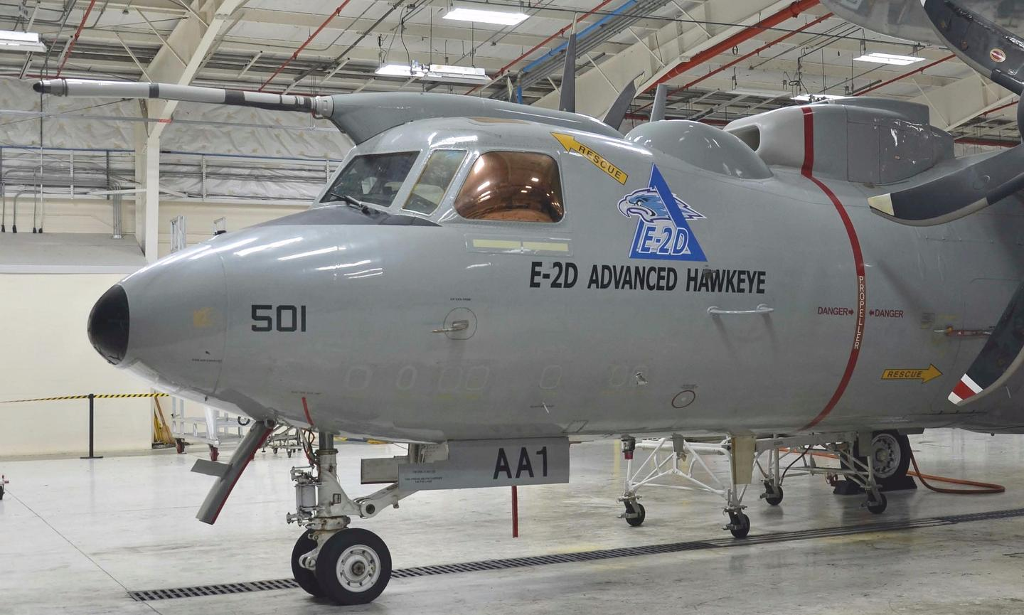 The first US Navy E-2D Advanced Hawkeye equipped with aerial refueling