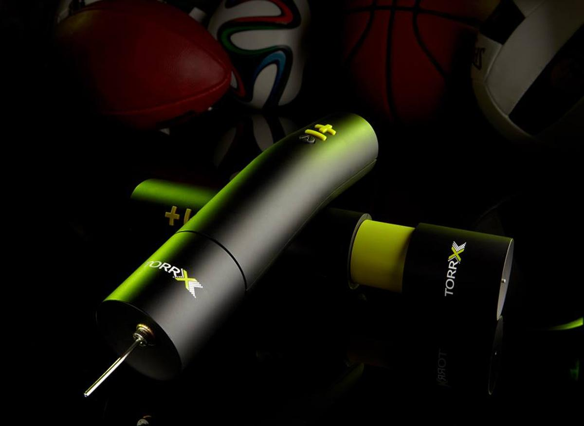 The TorrX is designed to take the guesswork out of pumping sports balls