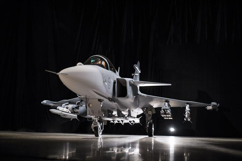 The Gripen E has longer range and greater weapons capacity than previous Gripen fighters