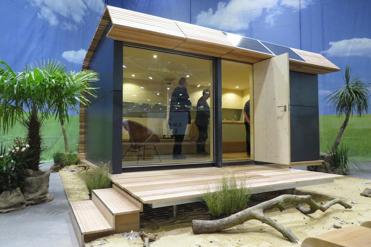 The Wave Eco Cabin measures 5.3 x 3.2 m (17.4 x 10.5 ft)