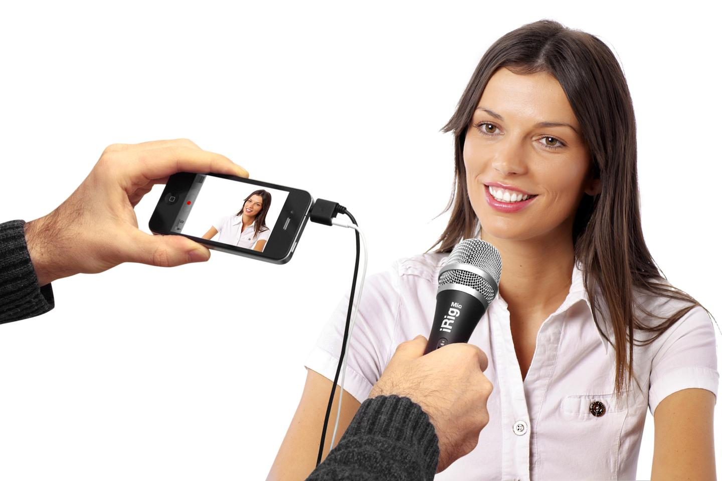 The iRig Mic could be used for video podcasts as well as vocal audio performances