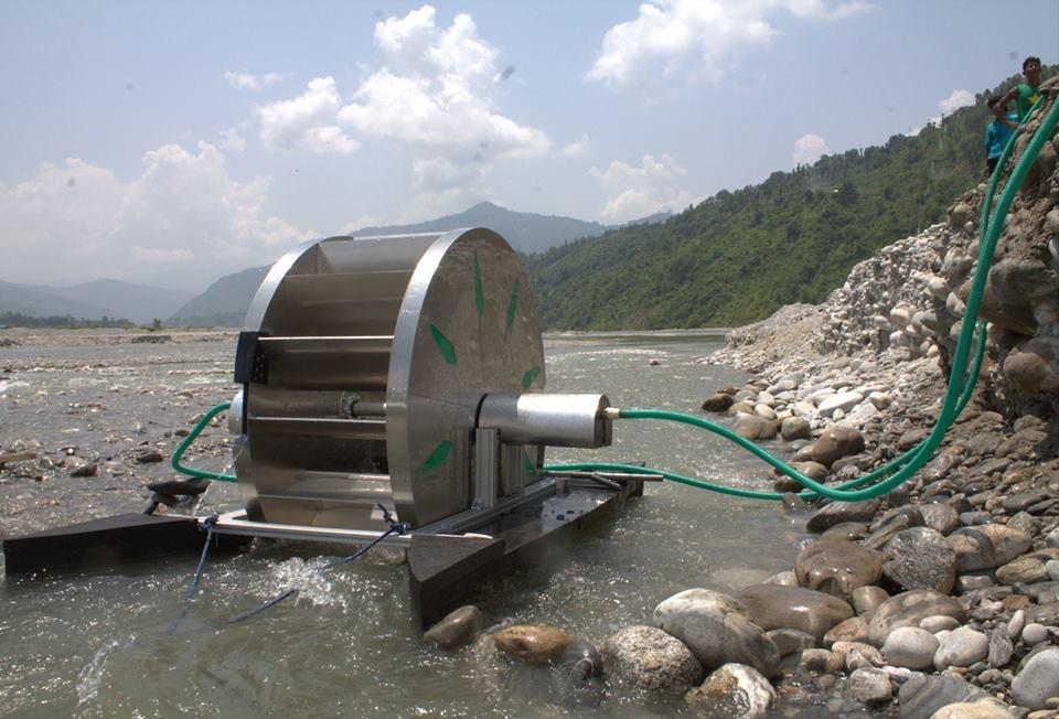 A Barsha pump at work in Nepal