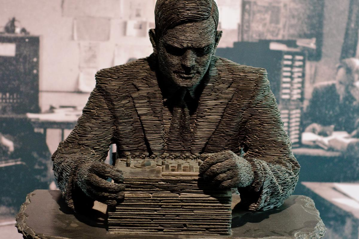 A statue of Alan Turing at the Bletchley Park Museum(Photo: Richard Gillin)