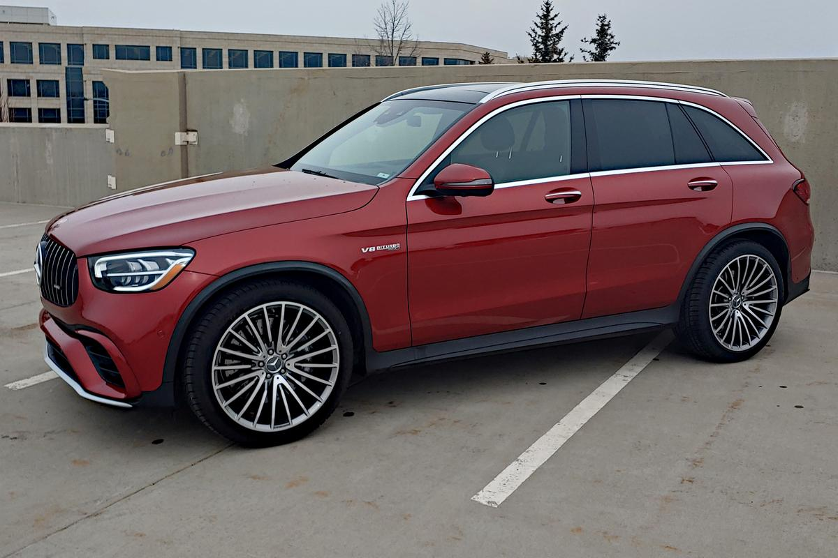 The Mercedes-Benz AMG GLC 63 has an odd, not-quite-American feel about its almost outrageous musculature and power, but that could be appealing too