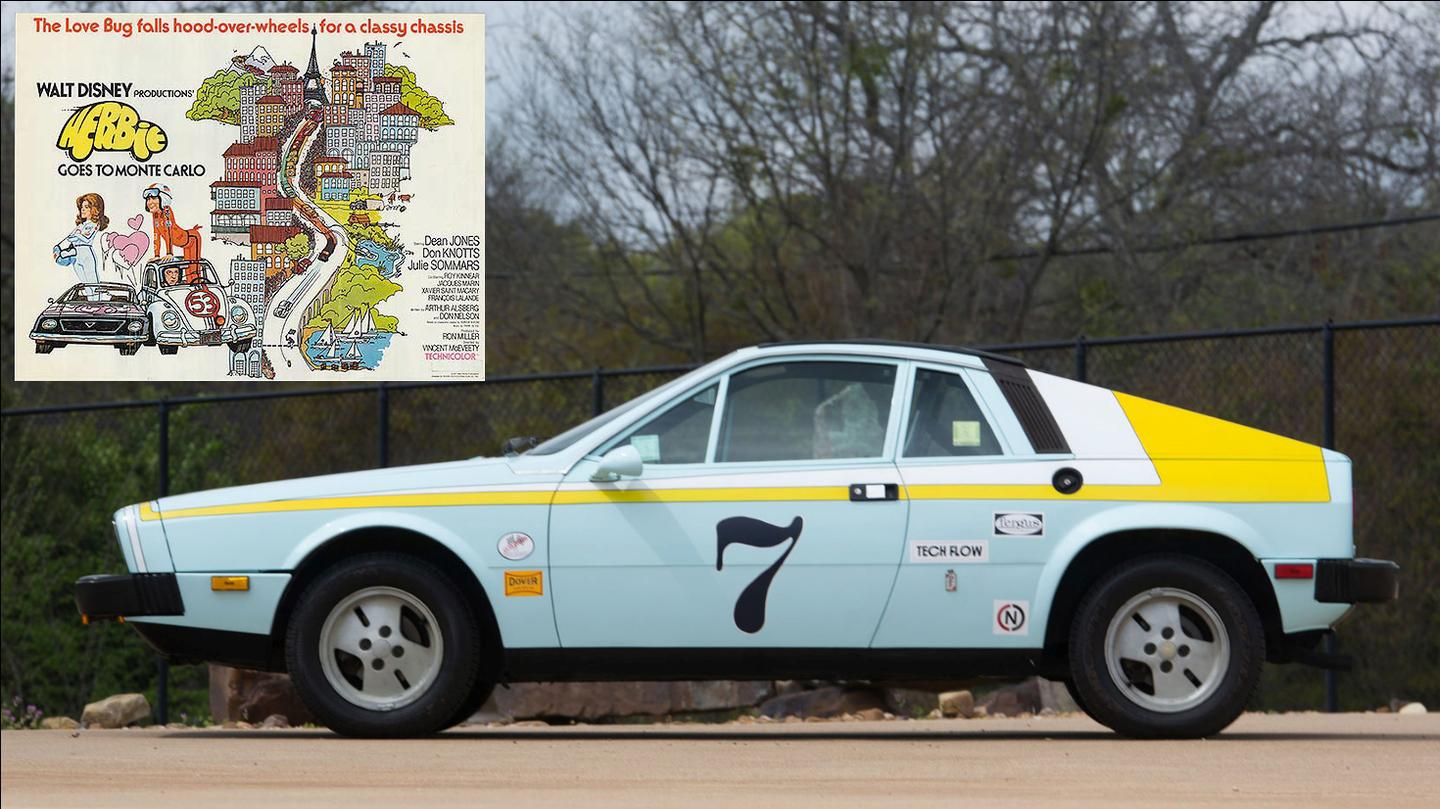 Every leading actor needs an onscreen romantic interest, and for Herbie, it was this shapely powder-blue Lancia Scorpion named Giselle. Herbie enthusiasts will no doubt be aware that Herbie met Giselle in the movieHerbie Goes to Monte Carlo. Giselle was a 1976 Lancia Scorpion, and of the three Scorpions prepared for the movie, only one is believed to exist today. Giselle had been repainted and sold into slavery as a daily driver after the movies, only to be found languishing in storage many years later, recognised by her roll cage, and restored to her screen-used appearance.Giselle sold at a Mecum auction in 2016 for $37,000.