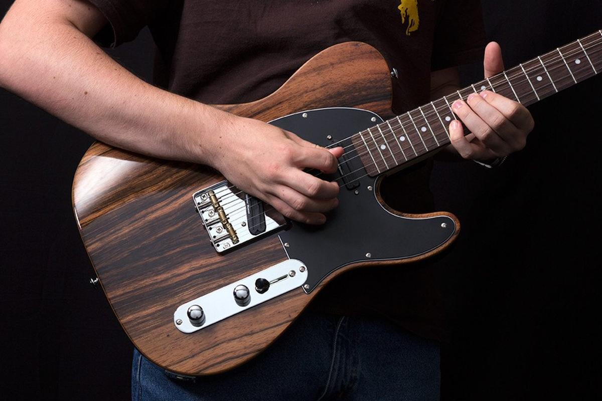 The CC50 Deluxe from Michael Kelly Guitars combines a 4-way pickup switch and dual pull/push pots to dial in multiple tones on one guitar