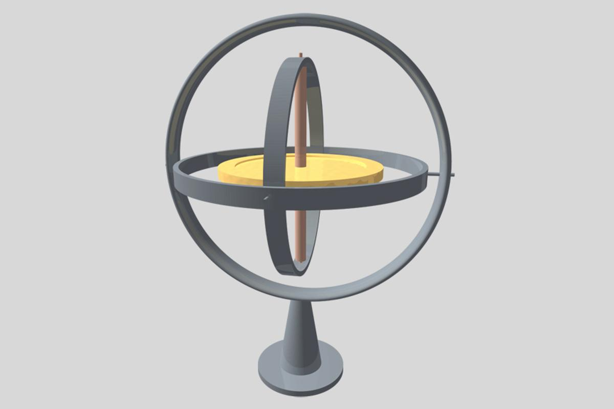 A conventional gyroscope