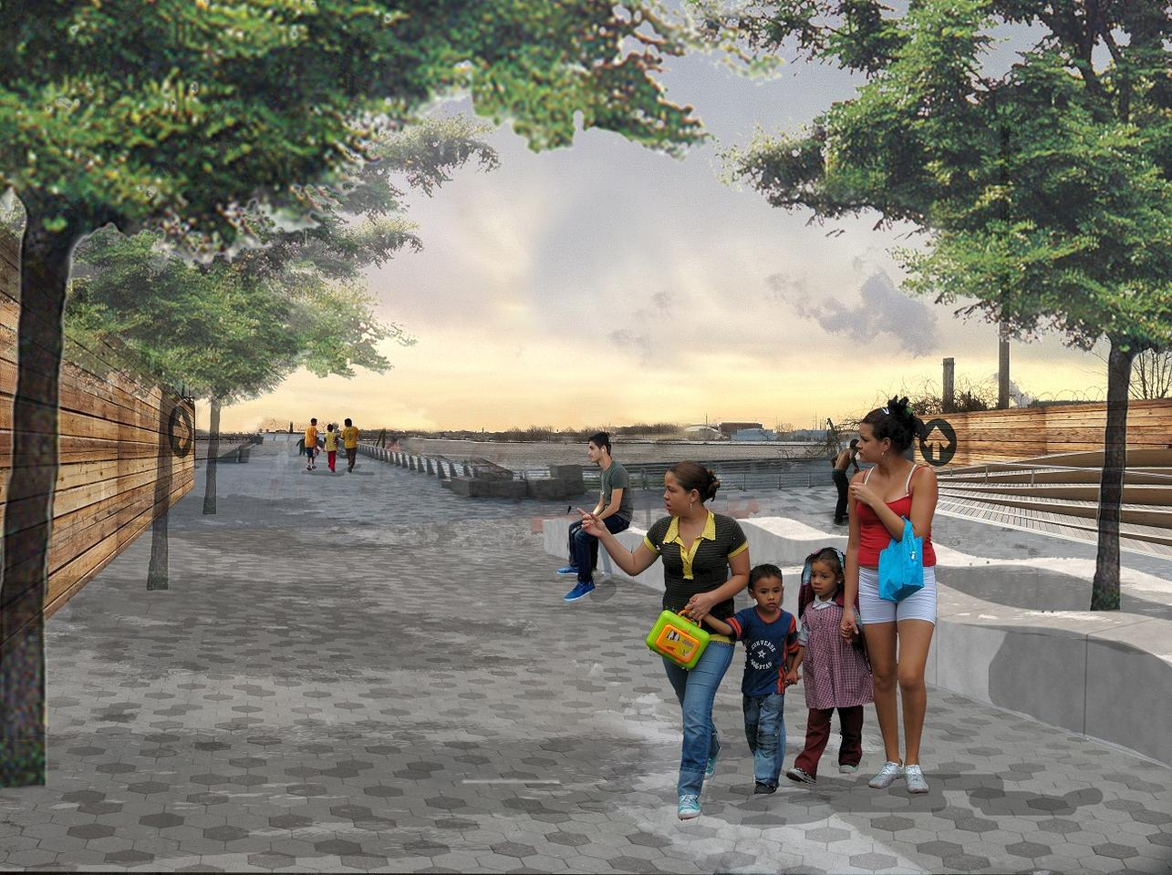 There will be continuous waterfront access from the Randall's Island Connector up to a redeveloped pier at 132nd Street
