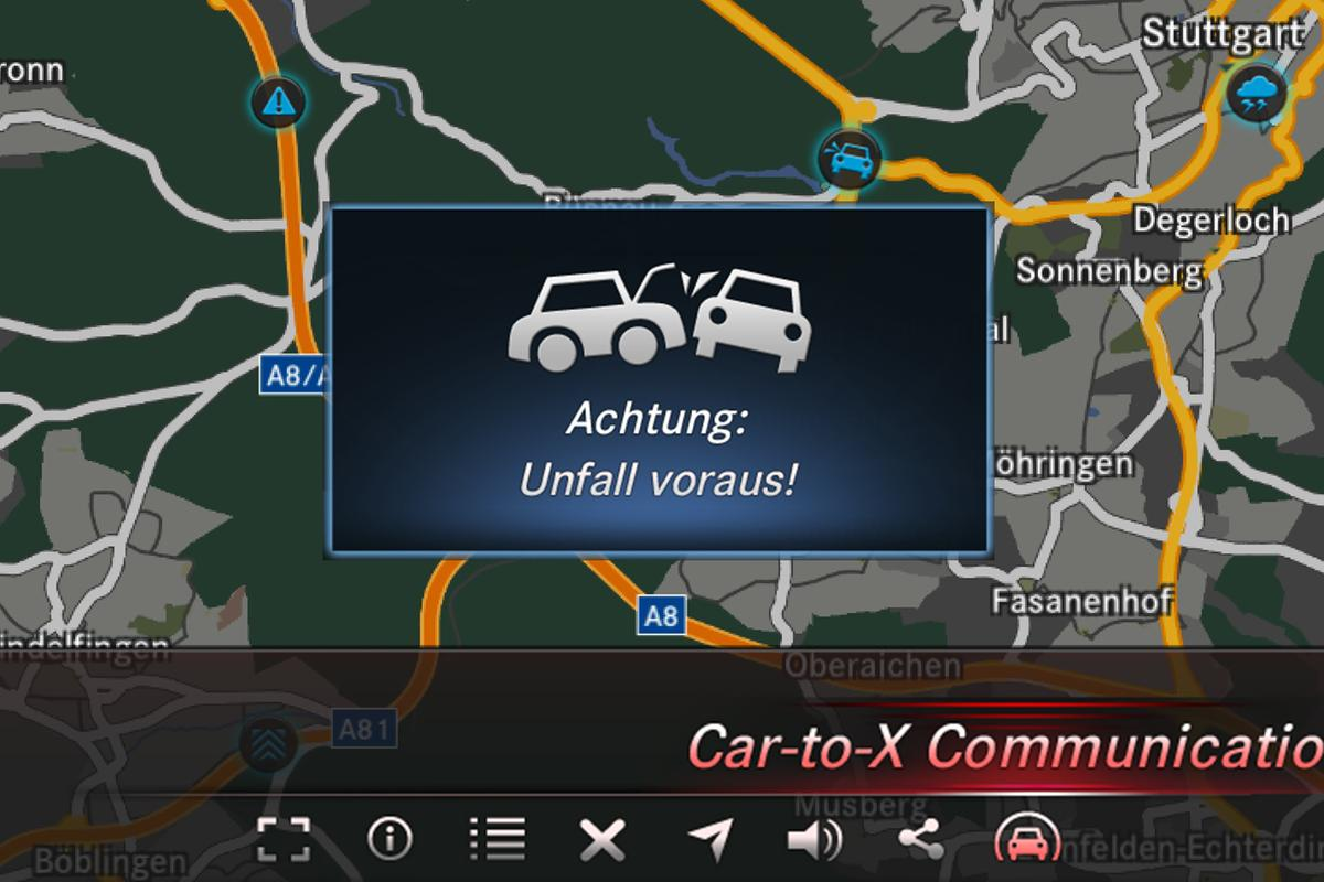 The Car-to-X system will warn drivers of hazards and obstacles