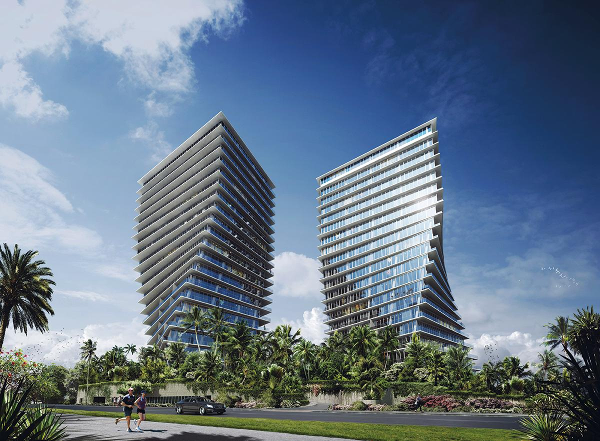 Grove at Grand Bay will be the first new high-rise residential buildings in Miami's Coconut Grove for a decade
