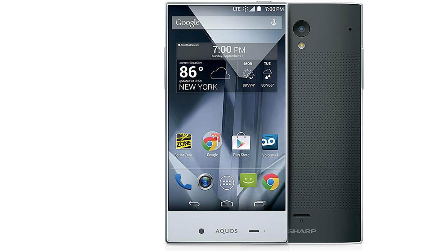 The Sharp Aquos Crystal has a 5-in (720p) display, which is framed differently than most smartphones