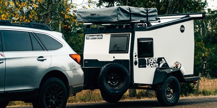 The 2021 Taxa Outdoors TigerMoth comes with the option of an Overland package for more capable off-road towing