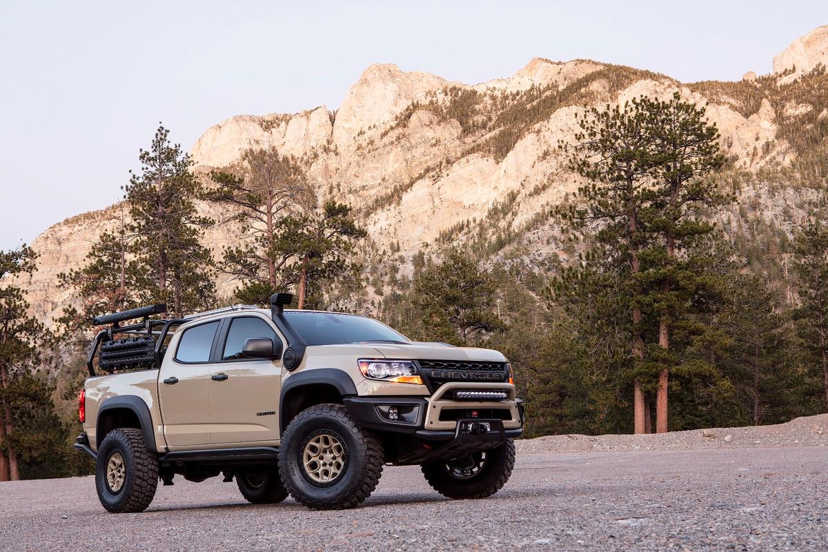 The ZR2 takes advantage of the highly off-road-capable ZR2 platform and brings along some accessories