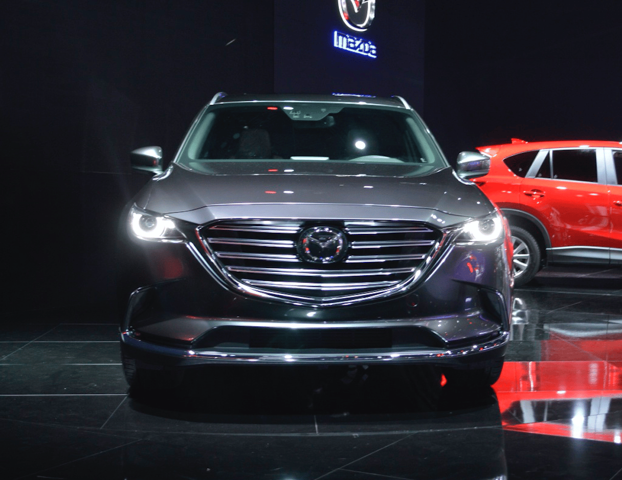 The Mazda CX-9 on show in Los Angeles