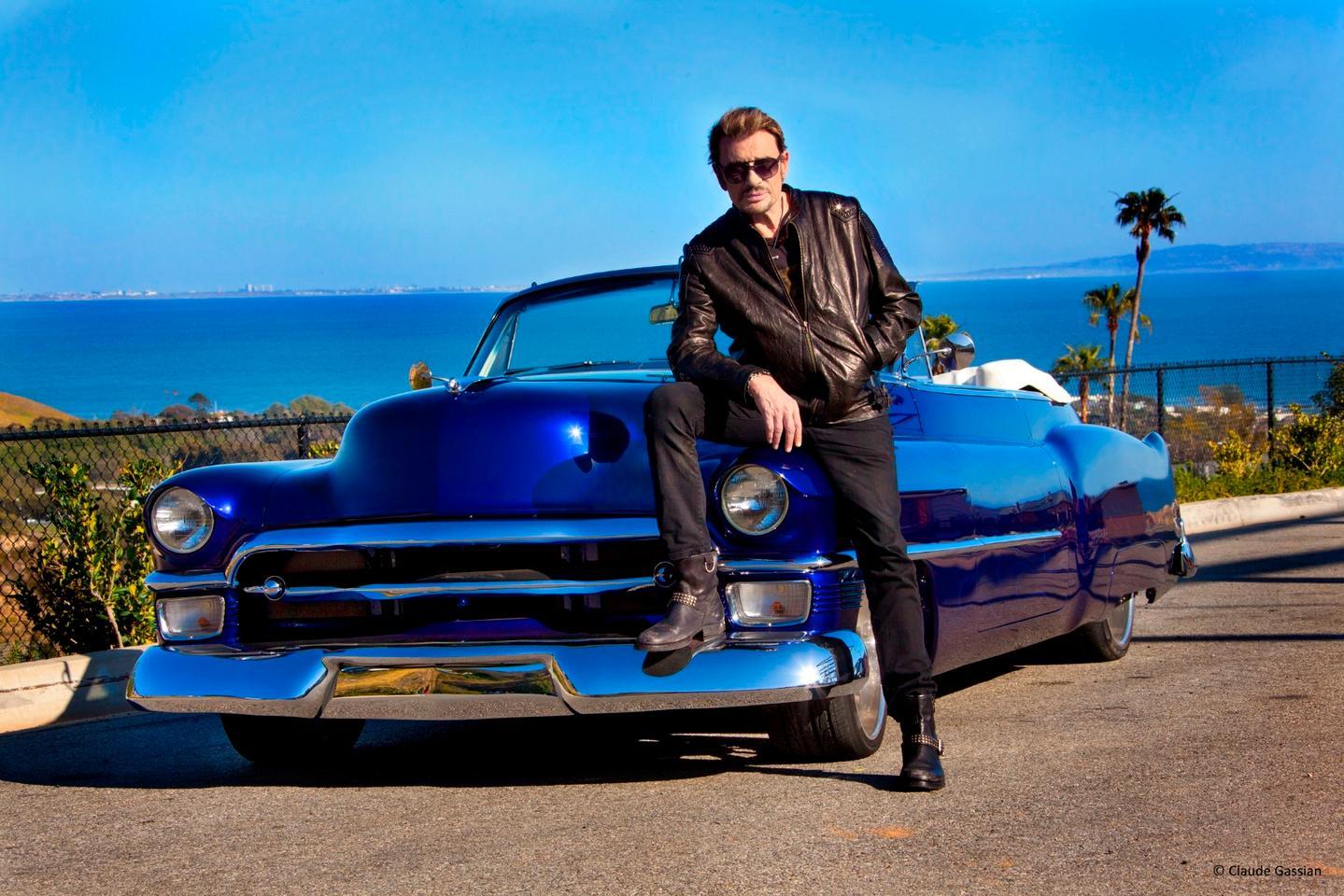 Hallyday and his Cadillac