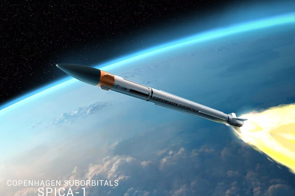 Artist's impression of the Spica I rocket