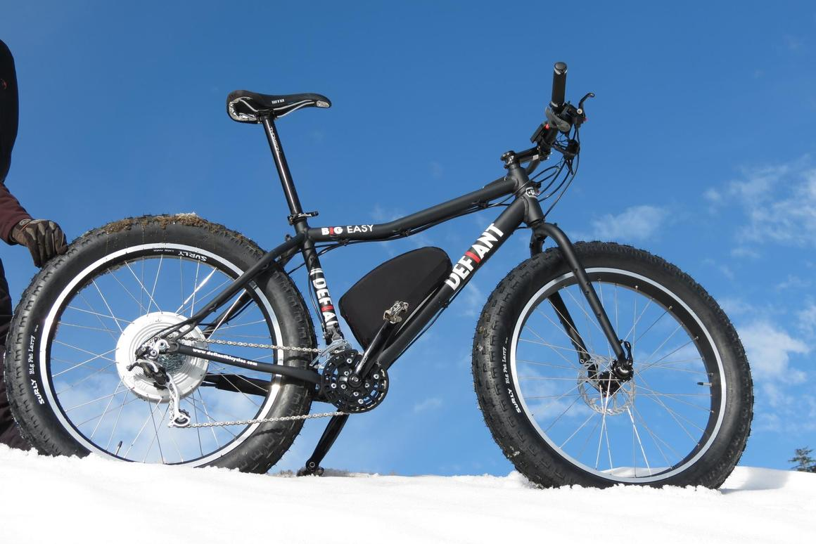 The Defiant Big Easy provides grit and power over sand and snow