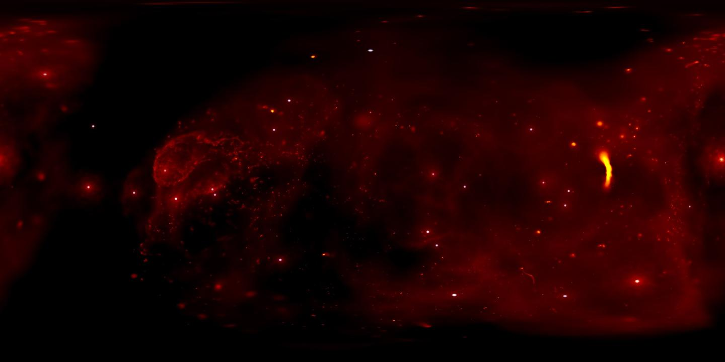 A new video lets you explore a simulation of the galactic center - a region of space 26,000 light years from Earth populated by a supermassive black hole