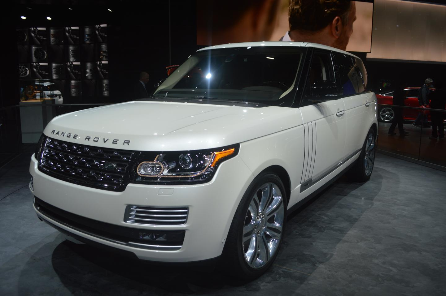 The Range Rover LWB Autobiography Black Edition made its public debut in Los Angeles