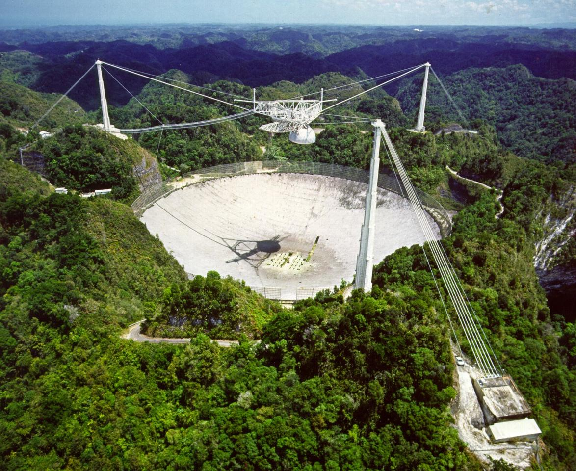 The Arecibo Observatory in Puerto Rico, which recently picked up strange signals seemingly originating with the red dwarf star, Ross 128