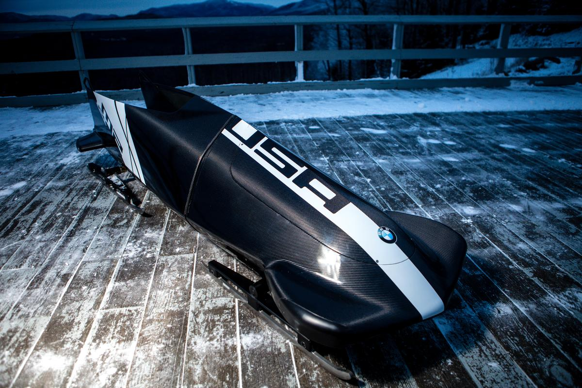 The US Bobsled Team's BMW-designed two-man bobsled