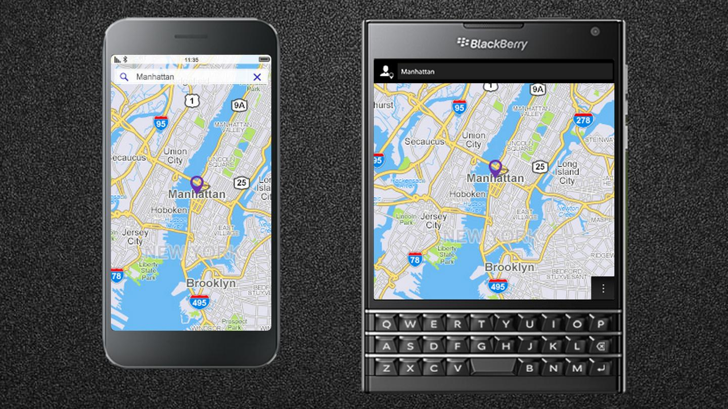 Blackberry isn't shy when is comes to pointing out the practicality of the Passport's display dimensions