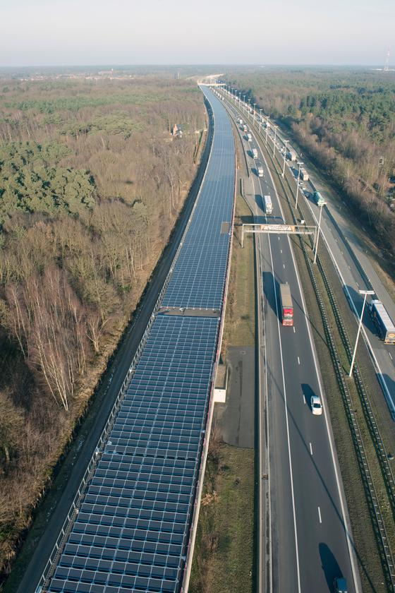 The Solar Tunnel is part of Belgium's HSL4 high-speed rail line that runs from Antwerp to Amsterdam