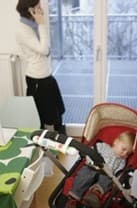 The Lolaloo rocking device takes care of rocking baby to sleep while you relax