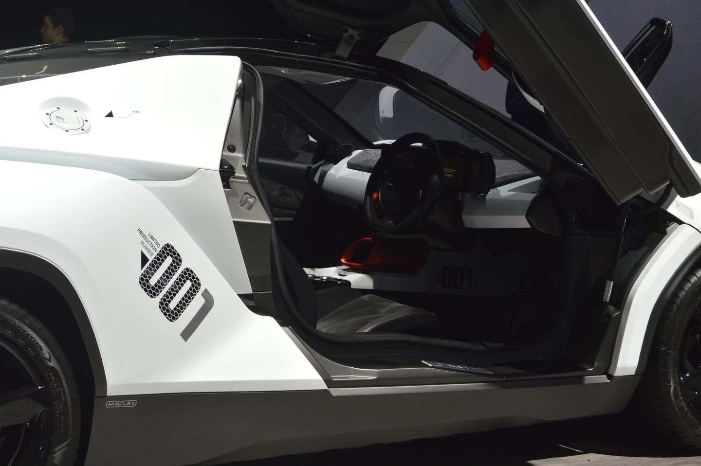 The butterfly doors on the Racemo add a touch of supercar drama