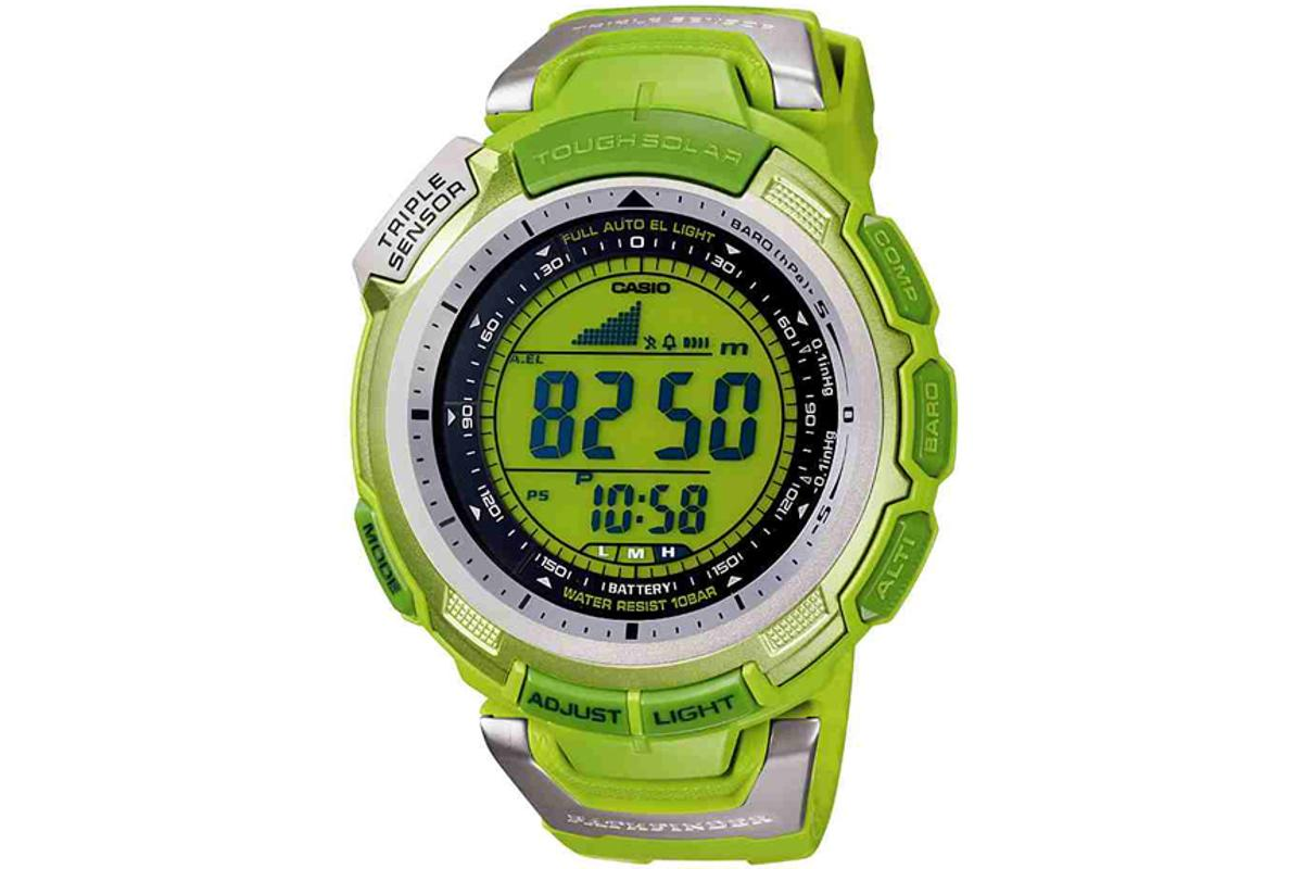 Casio's new Pathfinder PAG110C-3 watch is green in both color and intent