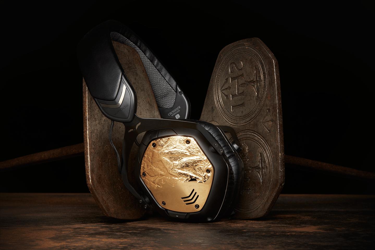 V-Moda's Crossfade Wireless headphones in gunmetal with 3D-printed shields