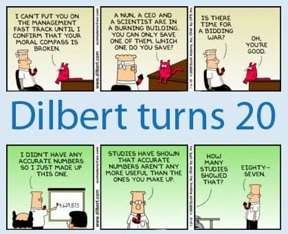 Dilbert celebrates 20 years