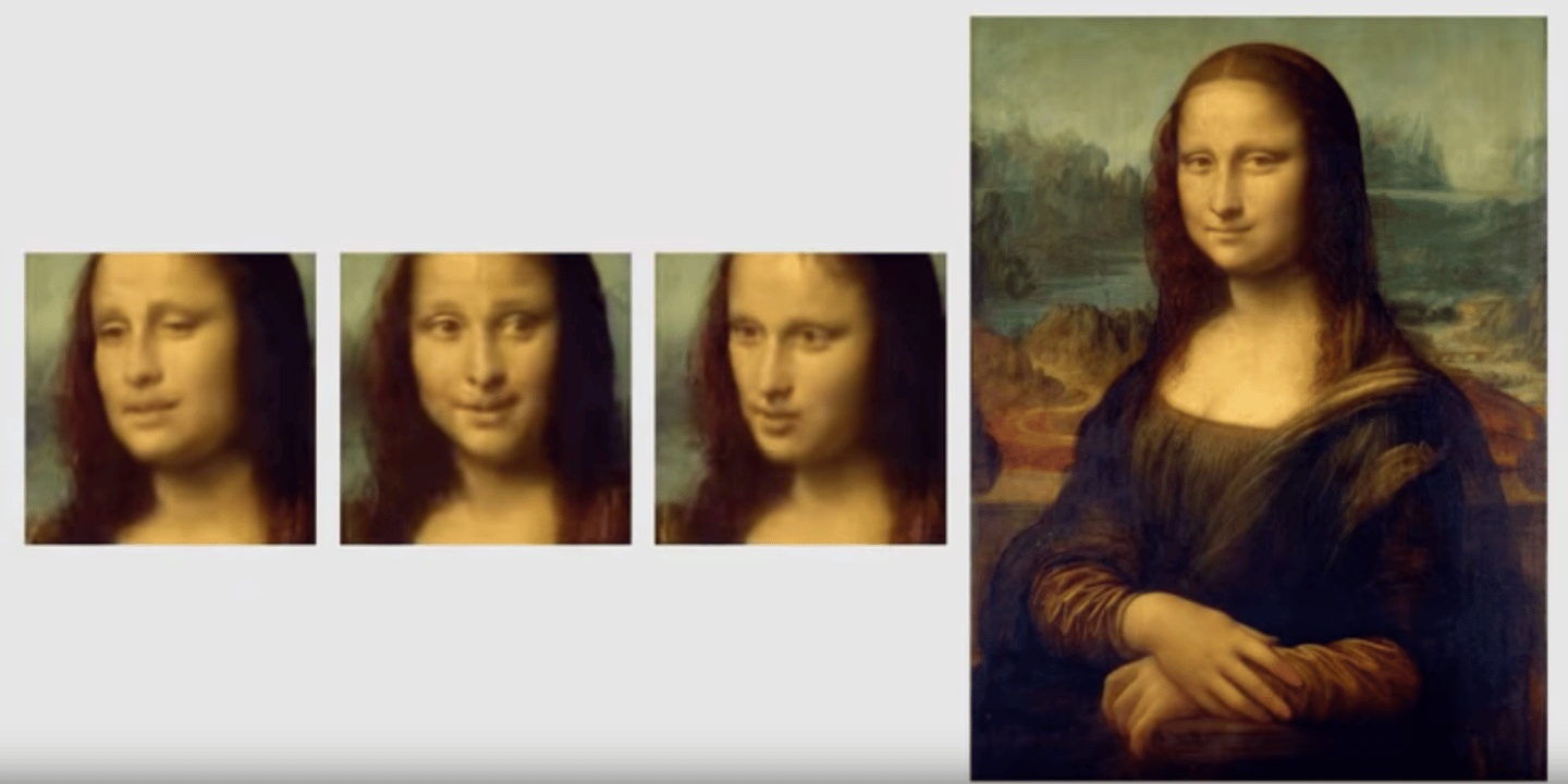 Mona Lisa comes to life thanks to Samsung's generative adversarial networks research