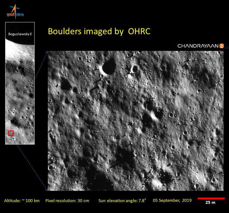Images from the ISRO's Chandrayaan-2 spacecraft show the surface in detail that is unparalleled for a lunar orbiter