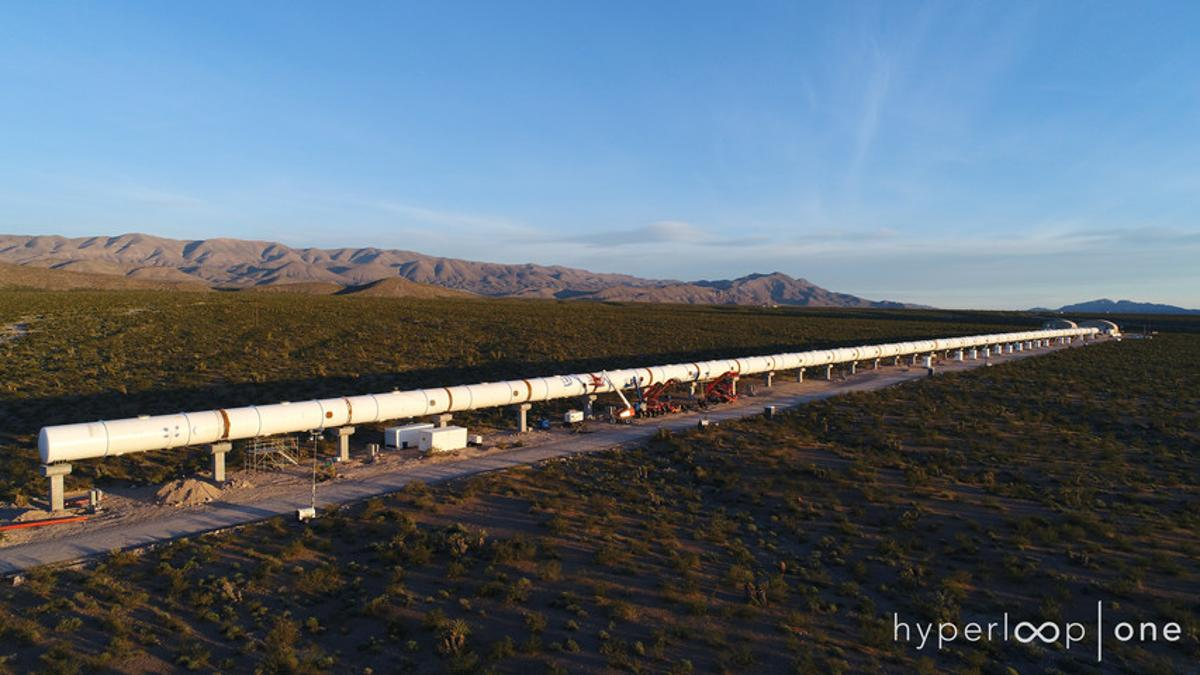 Hyperloop One also revealed that ithas added the finishing touches to its 500-meter long test track (0.3 mi) in Nevada