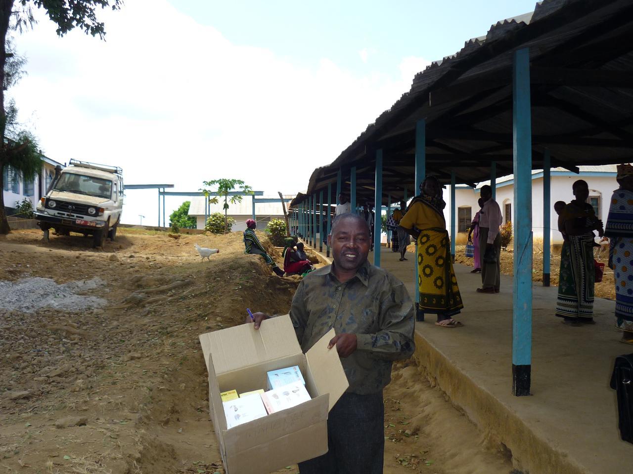 District Pharmacist Mahenge Ulanga with emergency stocks of Coartem (Photo: Olympia Wereko-Brobby)