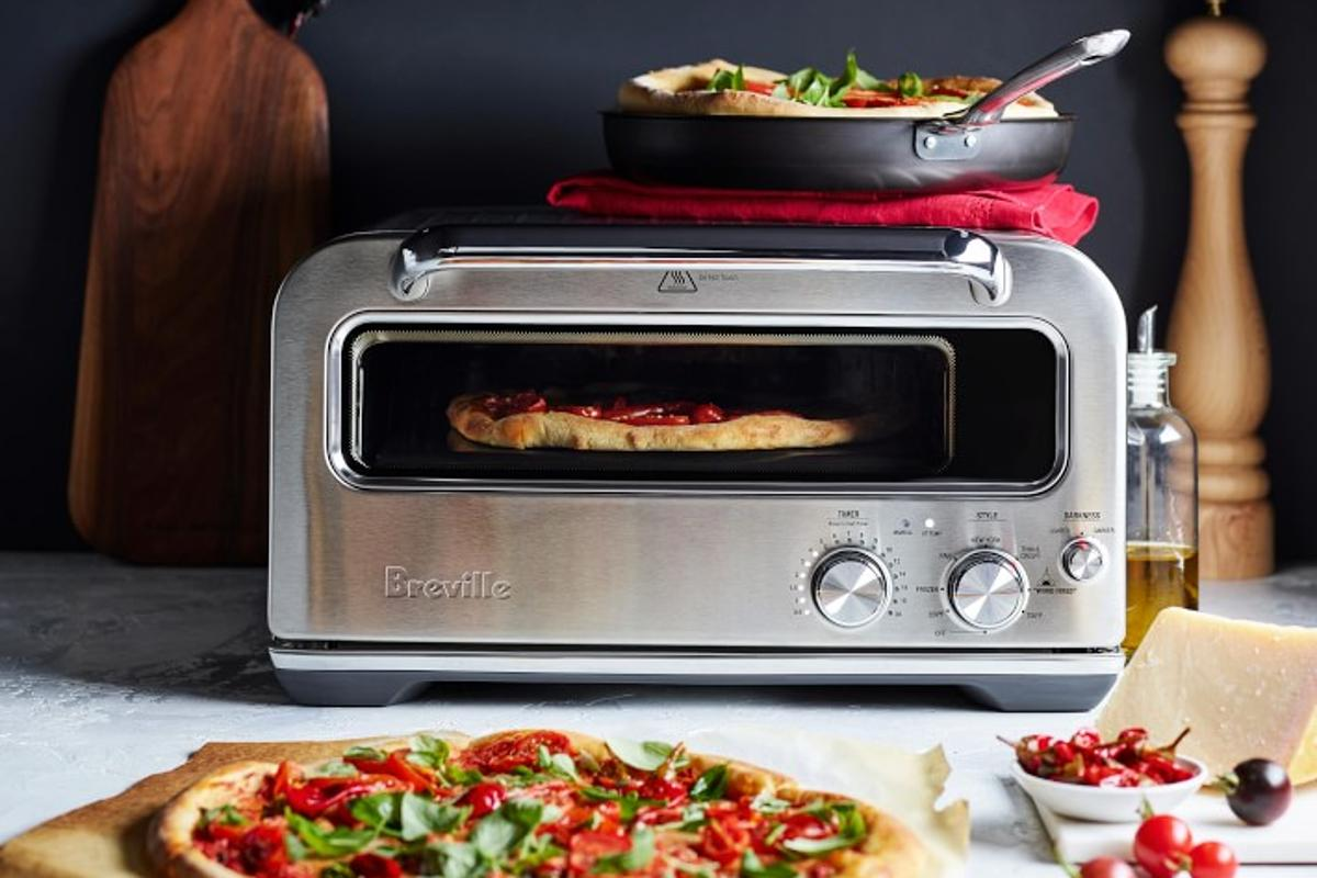 Breville says wood-fired stylepizzas can be cooked in just two minutes with its new Pizzaiolo oven